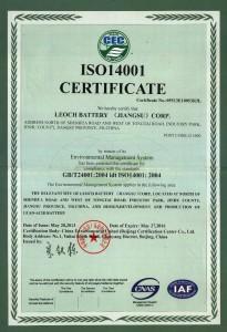 ISO Leoch 14001