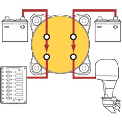 Huvudbrytare batteribrytare 2 pol BEP 400A