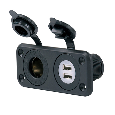 Combi uttag USB 12V